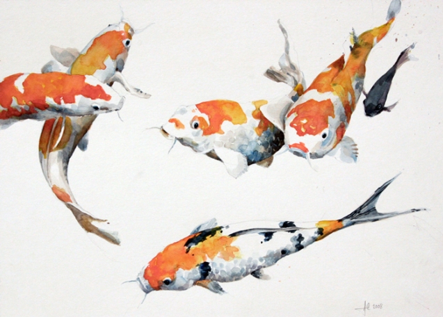 Koi carp alex egan artist for Coy poisson