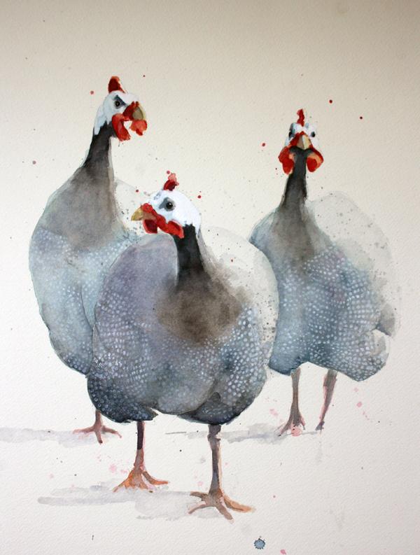 Guinea Fowl Trio Alex Egan Artist